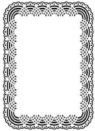 "Darice Embossing Folder - Doily background 5x7"" – 1218-99"
